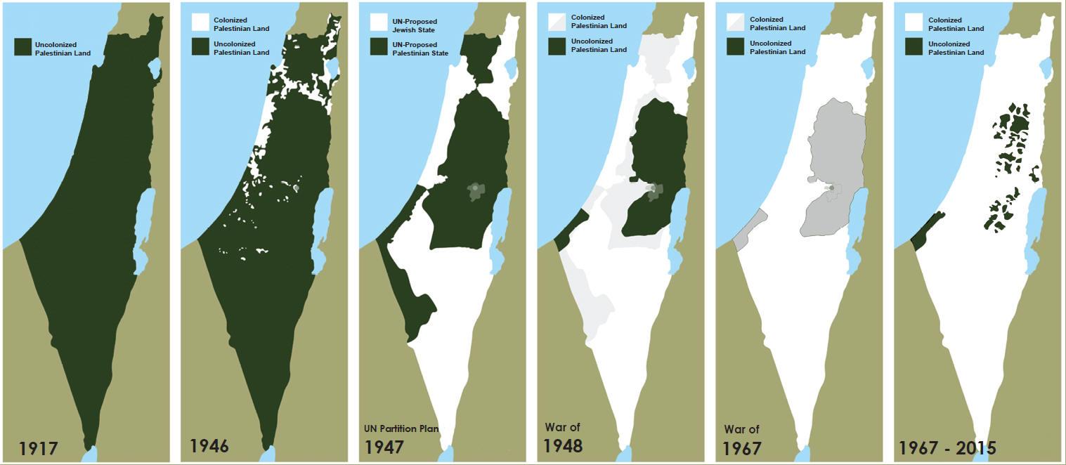 Palästina Karte
